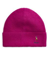 Růžová vlněná čepice