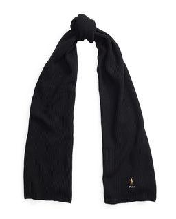 Czarny szalik z wełny