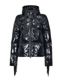 Pikowana kurtka z frędzlami Campari