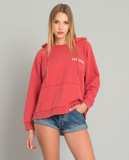 Czerwona bluza z kapturem