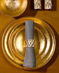 Talerz obiadowy ze złotem Alchimie
