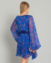 Hedvábné květinové šaty