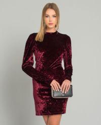 Welurowa sukienka mini