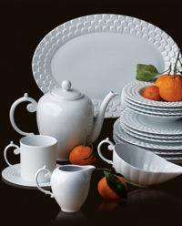 Talerz deserowy z porcelany Aegean