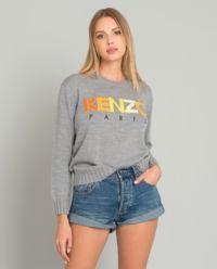 Szary sweter z logo