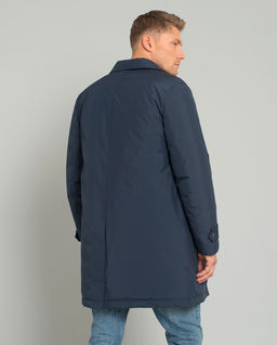 Puchowa kurtka z ukrytymi guzikami