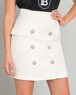 Spódnica mini z guzikami
