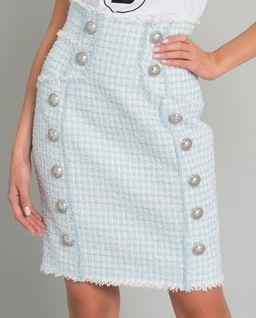 Tweedowa spódnica mini