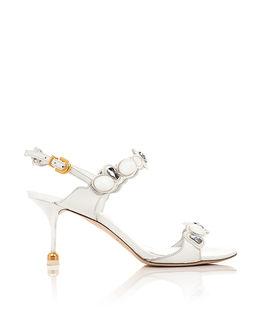 Zamszowe sandały z kryształami Julia
