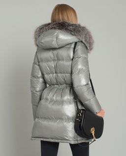 Metaliczna kurtka puchowa