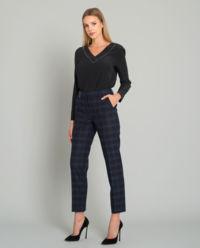 Spodnie w kratę z wełny