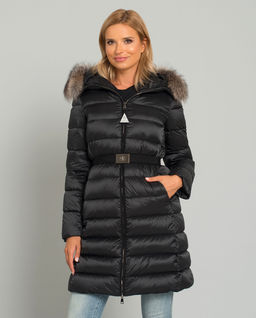 Czarny płaszcz puchowy Tinuv