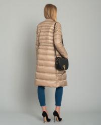 Beżowy płaszcz puchowy
