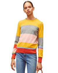 Wielokolorowy sweter z kaszmiru