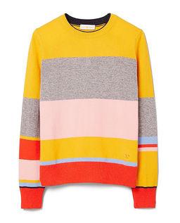 Vícebarevný svetr z kašmíru