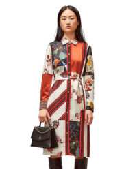 Sukienka midi z jedwabiu