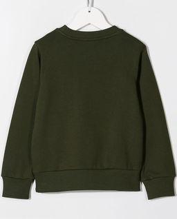 Zielona bluza z nadrukiem 8-14 lat