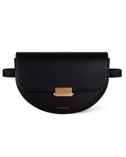 Czarna torebka na pas Anna Big