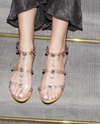 Sandały z kryształami Dina