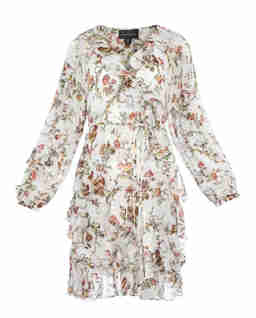 Sukienka z falbaną Garland