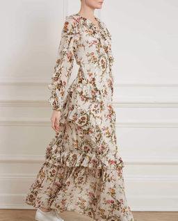 Sukienka maxi z falbaną