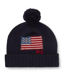 Wełniana czapka z flagą