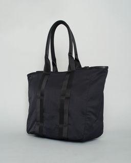 Czarna torba tote z logo