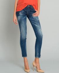 Spodnie jeansowe z przetarciami
