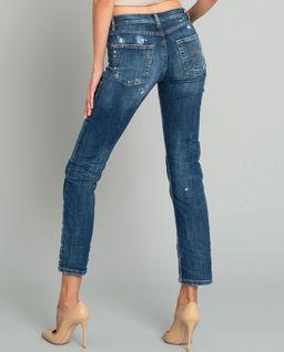 Džínové kalhoty s protrháním
