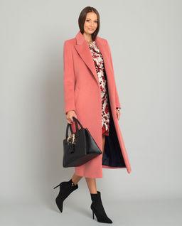 Różowy płaszcz Nurri z wełną alpaki