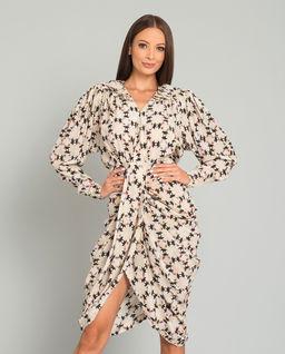 Wzorzysta sukienka Blandine