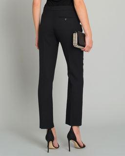Černé vlněné kalhoty