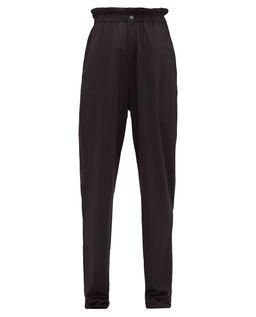 Czarne spodnie z wysokim stanem