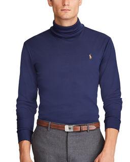 Granatowy golf z bawełny