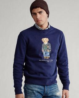 Granatowa bluza z misiem