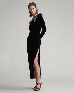 Aksamitna sukienka maxi