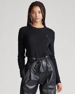 Černý svetr s příměsi kašmíru