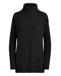 Wełniany sweter z golfem
