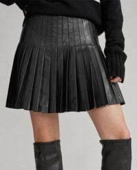 Skórzana spódnica mini