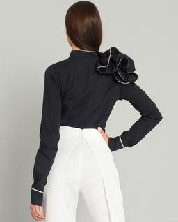 Czarna koszula z aplikacją Black Baroc