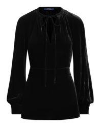 Czarna bluzka z aksamitu