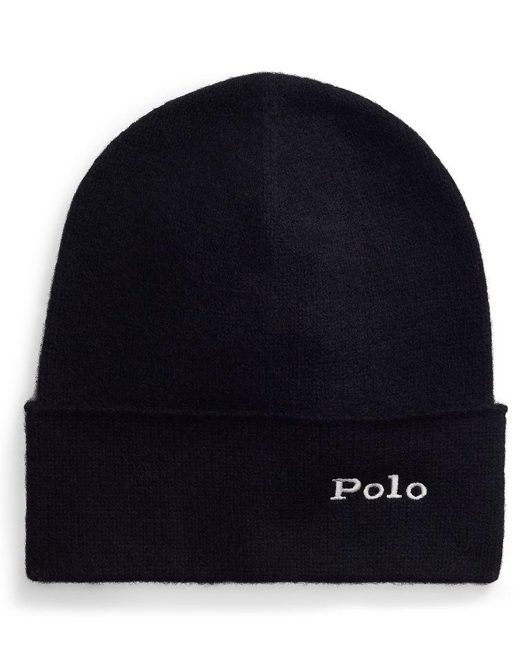 Czarna czapka z kaszmiru