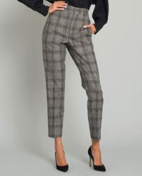 Szare spodnie w kratę Derys