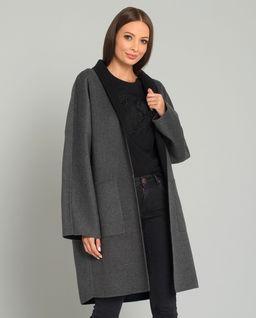 Szary płaszcz wełniany