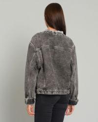 Szara kurtka jeansowa