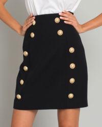 Czarna spódnica z wełny