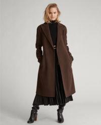 Brązowy płaszcz z wełny