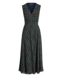 Sukienka midi w kratę