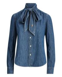 Jeansowa koszula z krawatem