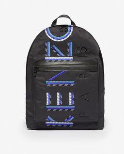 Czarny plecak z logo